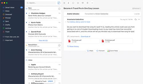 Ứng dụng giúp quản lý email hiệu quả hơn trên iPhone và Macbook - 1