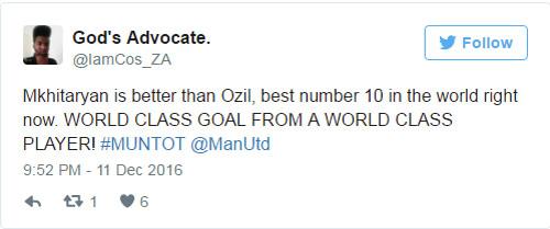 Fan MU phát cuồng, khen Mkhitaryan hay hơn Ozil - 2