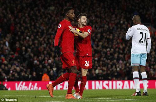 Liverpool - West Ham: Đối thủ lì lợm, rượt đuổi tỷ số - 1