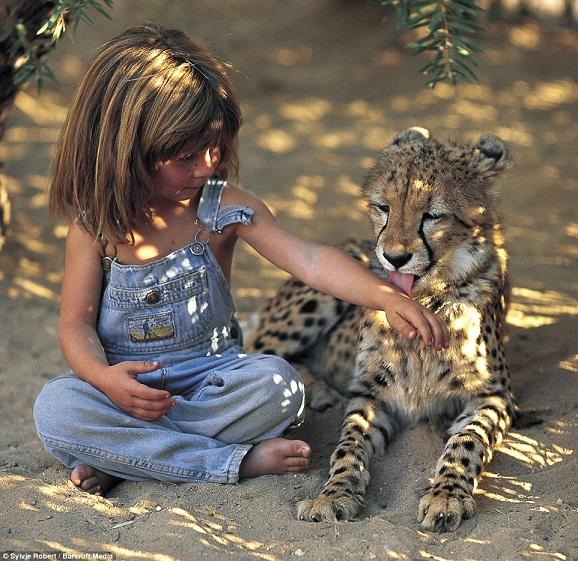 Bé gái Tây 10 năm ở châu Phi cùng báo đốm, voi và rắn - 5