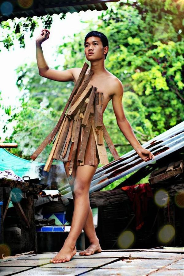 Hoảng hốt thời trang lá chuối, xoong nồi của teen boy Thái - 2