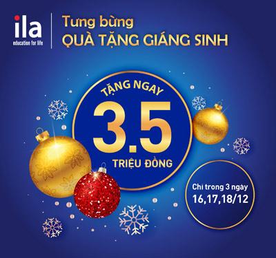 Mừng giáng sinh 2016 ILA tưng bừng trao tặng học bổng 3,5 triệu đồng - 1