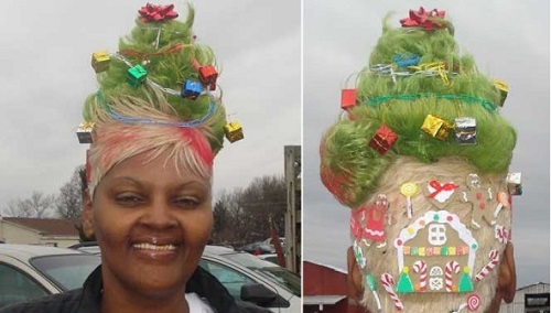 """Những kiểu tóc """"độc lạ"""" chào đón Giáng sinh - 11"""