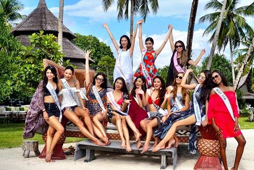 Lệ Hằng tự tin đọ sắc bikini bên đối thủ Miss Universe - 1