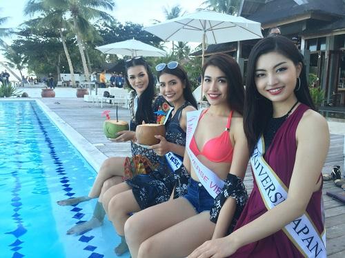 Lệ Hằng tự tin đọ sắc bikini bên đối thủ Miss Universe - 4