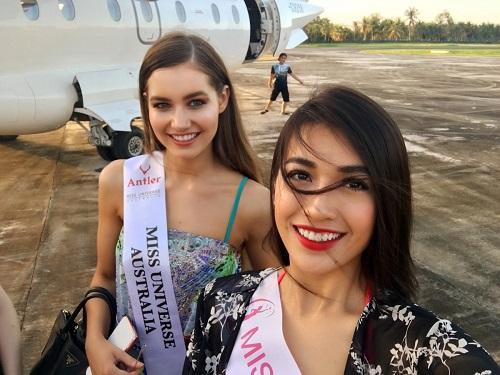 Lệ Hằng tự tin đọ sắc bikini bên đối thủ Miss Universe - 5