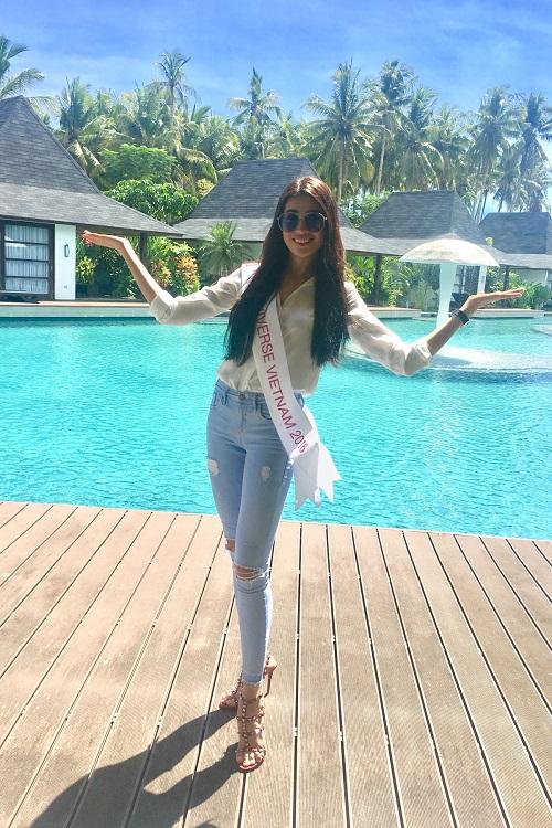 Lệ Hằng tự tin đọ sắc bikini bên đối thủ Miss Universe - 7