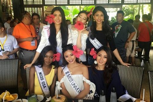 Lệ Hằng tự tin đọ sắc bikini bên đối thủ Miss Universe - 6