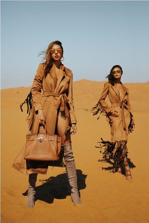 Minh Triệu khoe chân dài miên man giữa sa mạc thiêu đốt - 2