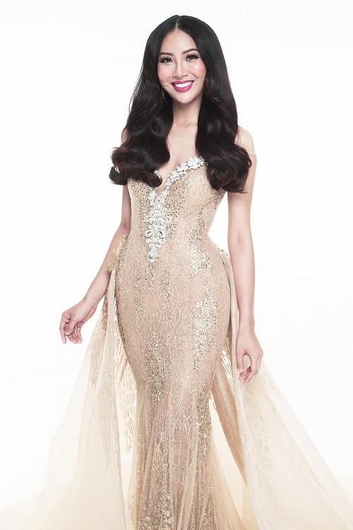 """Diệu Ngọc """"chinh chiến"""" Miss World với váy siêu quyến rũ - 2"""