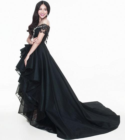"""Diệu Ngọc """"chinh chiến"""" Miss World với váy siêu quyến rũ - 3"""