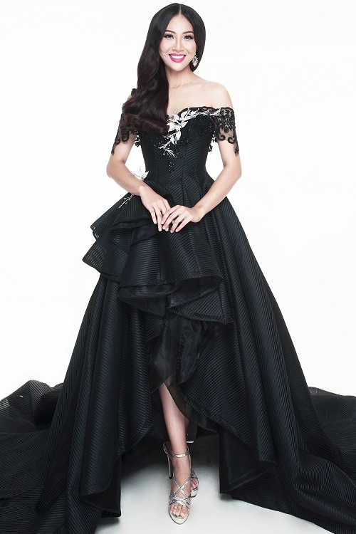 """Diệu Ngọc """"chinh chiến"""" Miss World với váy siêu quyến rũ - 4"""