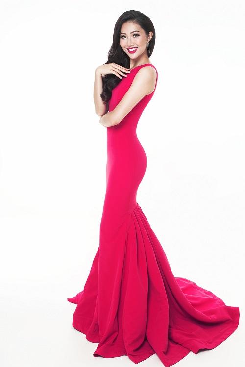"""Diệu Ngọc """"chinh chiến"""" Miss World với váy siêu quyến rũ - 5"""