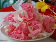 Ẩm thực - Lạ miệng với cách làm mứt dừa sữa dâu thơm ngon tại nhà