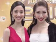 """Khổng Tú Quỳnh đẹp """"lấn lướt"""" hoa hậu HK tại lễ trao giải"""