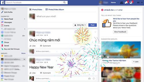 """Khui hiệu ứng """"Happy New Year"""" cực độc trên Facebook - 1"""