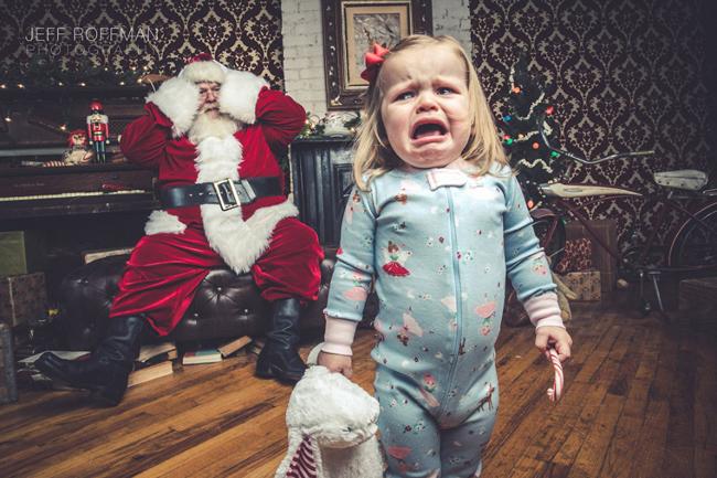 Không phải đứa trẻ nào cũng muốn gặp ông già Noel.