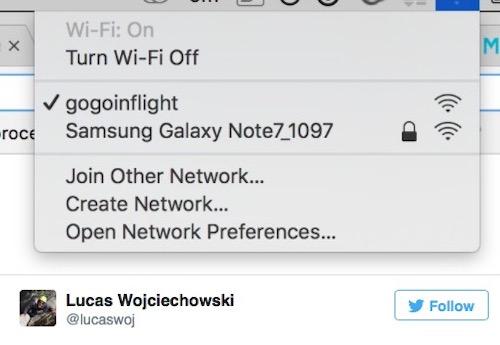 """Hoãn chuyến bay vì điểm phát Wi-Fi... """"Samsung Galaxy Note7"""" - 1"""