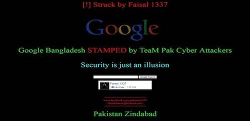 Trang web Google Bangladesh bị hacker tấn công - 1