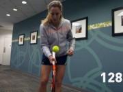 SAO tennis lập kỷ lục 236 lần tâng bóng bằng cạnh vợt