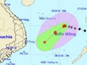 Bão Nock-ten đổi hướng, áp sát quần đảo Hoàng Sa
