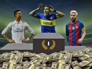 """Bóng đá - Sau Tevez, lương Ronaldo & Messi sắp """"hít khói"""" dự bị Barca"""