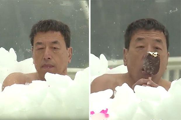 """""""Người băng"""" lập kỷ lục ướp đá lạnh hàng giờ giữa mùa đông rét buốt - 1"""