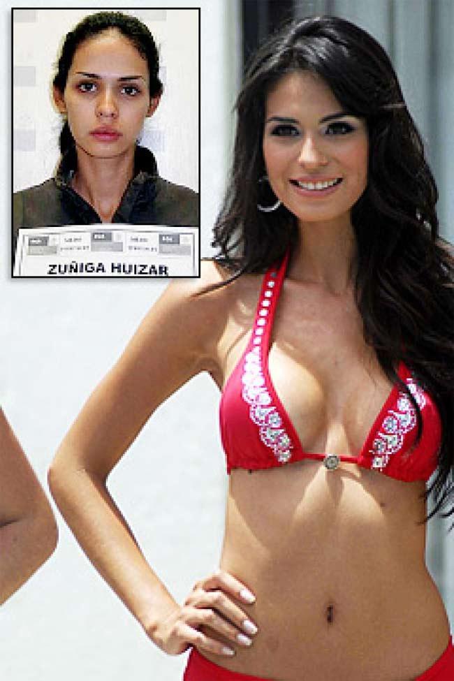 Hoa hậu Mỹ Latin tổ chức năm 2008 Laura Zuniga từng bị bắt cùng với bạn trai mình vì vận chuyển trái phép ma túy và vũ khí.
