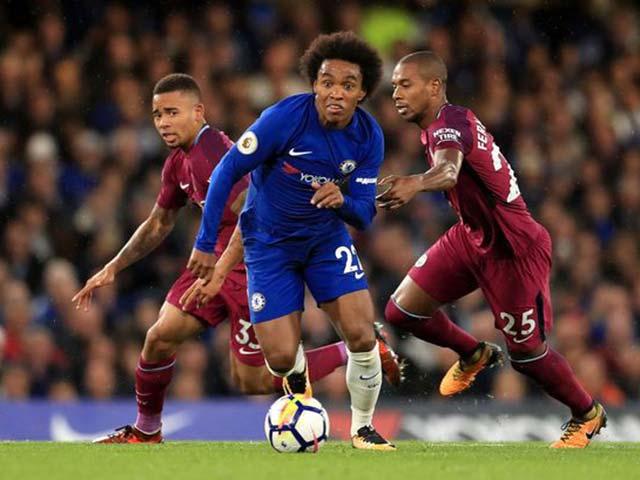 """Man City thắng lớn Chelsea: Báo Anh thích hơn MU """"cơ bắp"""""""