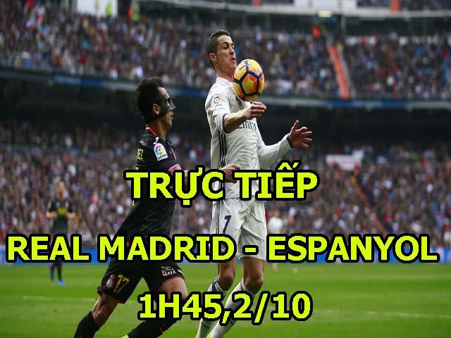 TRỰC TIẾP bóng đá Real Madrid - Espanyol: Real Madrid tan hoang hàng thủ