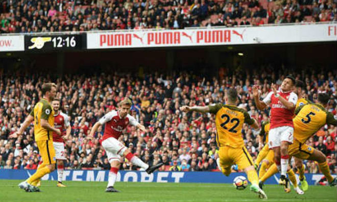 """Arsenal - Brighton: Bàng hoàng với 2 """"quả đạn pháo"""" - 1"""