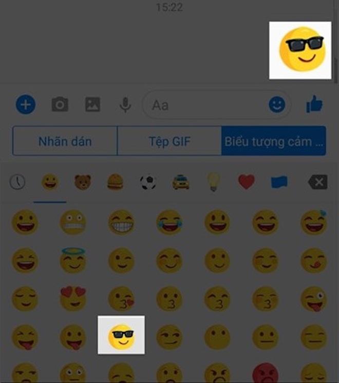 Hướng dẫn gửi icon cảm xúc Facebook to hơn thường lệ - 2
