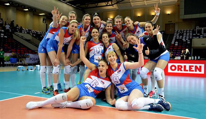 """Bóng chuyền: """"Kiều nữ"""" 1m93 giúp Serbia vượt Nga - Đức, bá chủ châu Âu - 1"""