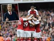 Bóng đá - Arsenal bùng nổ, Wenger nhắn Man City, MU chớ vội mừng