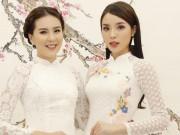 """Hoa hậu Kỳ Duyên đọ sắc với """"cô gái thời tiết"""" Mai Ngọc"""