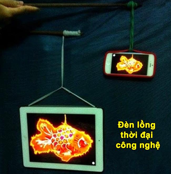 Thời đại công nghệ rồi, đèn lồng kiểu này mới sang.
