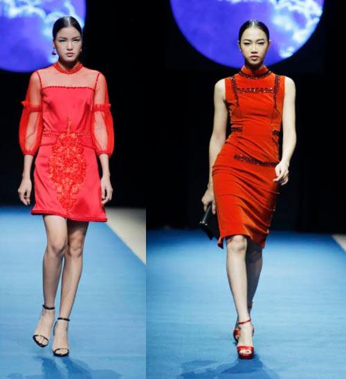 Á hậu cao nhất Việt Nam quá lộng lẫy tại tuần thời trang Việt - 13