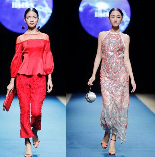 Á hậu cao nhất Việt Nam quá lộng lẫy tại tuần thời trang Việt - 14