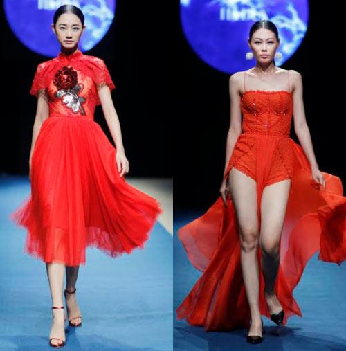 Á hậu cao nhất Việt Nam quá lộng lẫy tại tuần thời trang Việt - 15