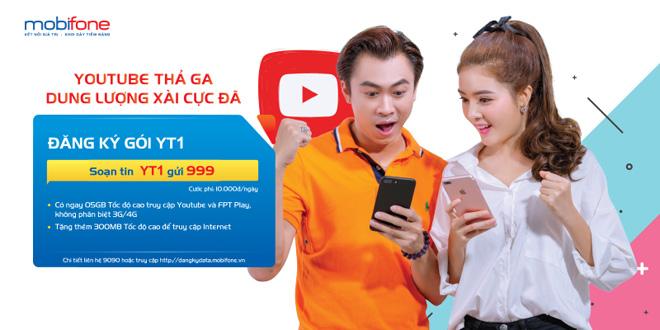 """""""Điểm danh"""" các gói 3G/4G đặc biệt truy cập Youtube của MobiFone - 1"""