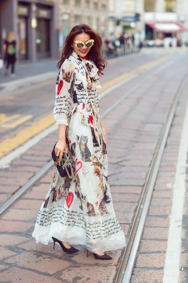 Chân dài 1m12 diện đồ tiền tỷ khoe sắc trên đường phố Milan - 8