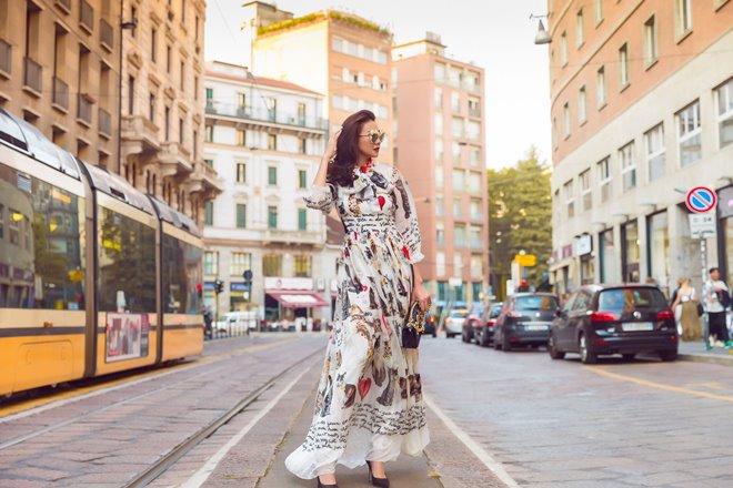 Chân dài 1m12 diện đồ tiền tỷ khoe sắc trên đường phố Milan - 9
