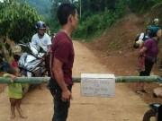 BOT làng  ở Lai Châu: Dân dùng tre lập chốt, thu phí 50.000 đồng/lượt xe