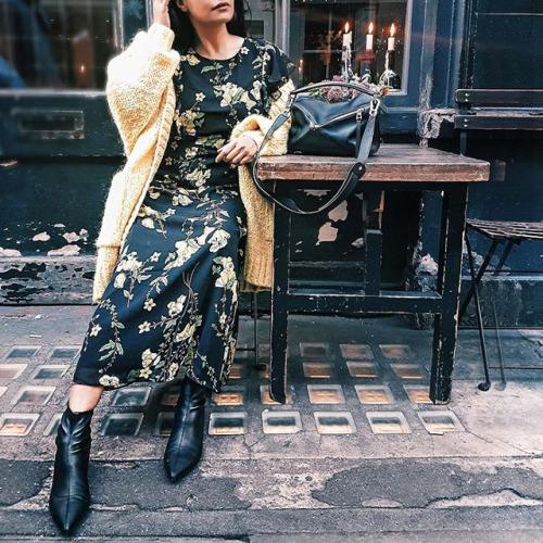 9 cách diện váy dài đẹp ngất ngây cho mùa thu - 6