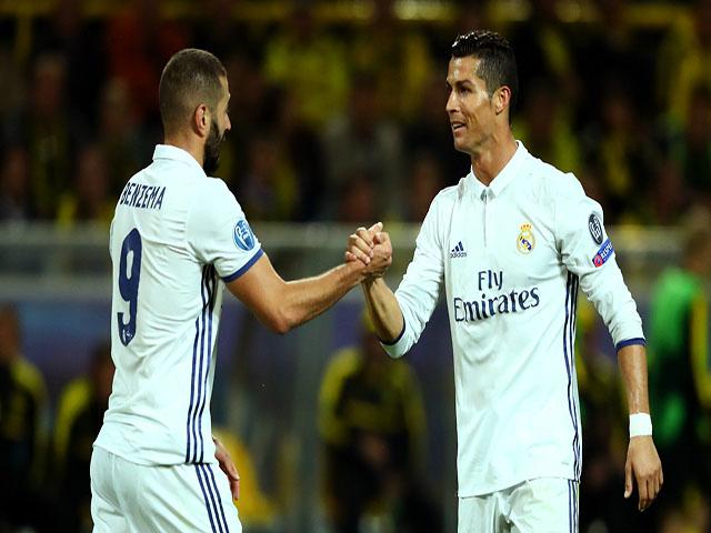 """Real bĩ cực đấu Atletico: Benzema """"hầu hạ"""", mong Ronaldo khơi nguồn"""
