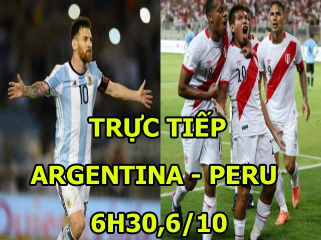 TRỰC TIẾP bóng đá Argentina - Peru: Song tấu Messi - Di Maria
