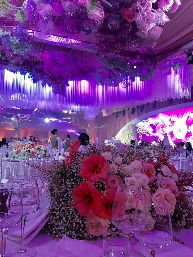 Tiệc cưới lộng lẫy, xa hoa của Hoa hậu Thu Thảo và chồng đại gia - 2
