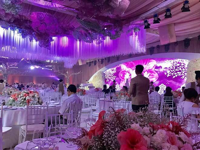 Tiệc cưới lộng lẫy, xa hoa của Hoa hậu Thu Thảo và chồng đại gia - 3