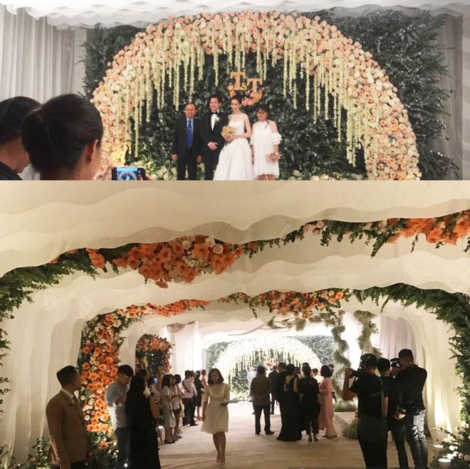 Tiệc cưới lộng lẫy, xa hoa của Hoa hậu Thu Thảo và chồng đại gia - 1