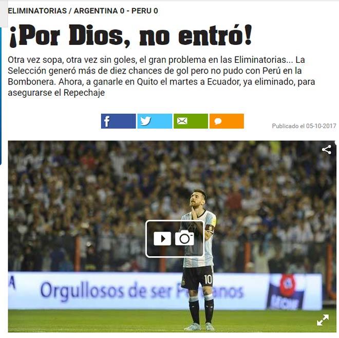 Nguy cơ lỡ World Cup, báo chí Argentina trút giận lên Messi - 1